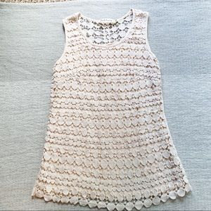 Solitaire Cream Crocheted Top